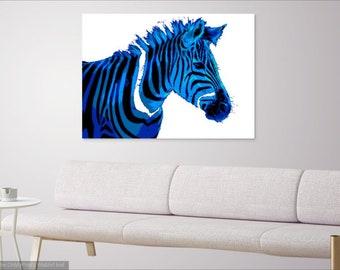 Blue Zebra Digital Print