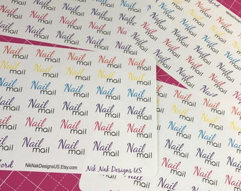 Color Street Nail Mail Stickers
