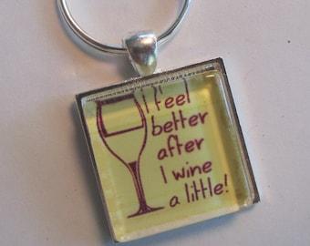 WINE LOVER Key Chain, Wine Theme Gift, Wine Key Chain, Wine Gift, Wine Theme Gift, Wine Tasting