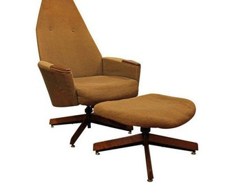 Mid-Century Modern Adrian Pearsall Craft Associates Lounge Chair & Ottoman