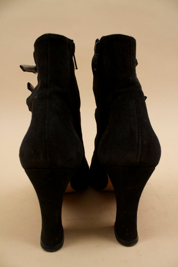 High Ankle does 90s Leather Platform 60s Black MOD Buckle Eu Boot Nubuck Goth 39 5 Dolly Vtg Jourdan Charles Heel 8 ZvCdrvn