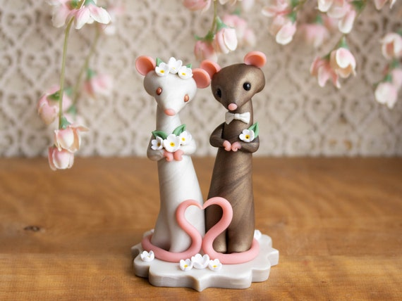 Rat Wedding Cake Topper
