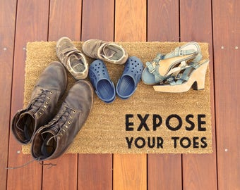 Expose Your Toes™ Door Mat (doormat) - a nice way of asking guests to take off their shoes