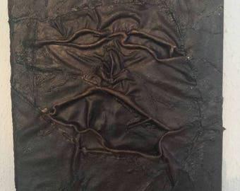 Necronomicon picture made of genuine leather