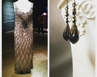 Lady Mary Earrings - Edwardian Jewelry - Edwardian Earrings - Victorian Jewelry - Victorian Earrings - Mourning Jewelry - Womens Jewelry