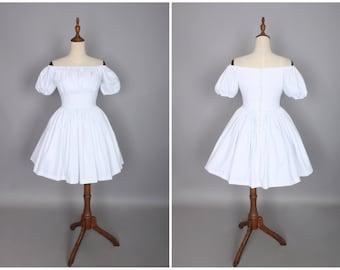Loretta Dress in Solid White