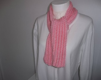 Knit Pink Scarf - Girl's Pink Scarf - Pink Knitted Scarf - Toddler Knit Scarf - Knitted Neck Warmer - Christmas Gift -  Winter Accessory
