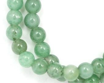 Green Aventurine (Grade C) Beads - 6mm Round