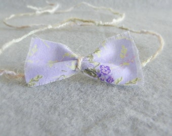 Baby headband tie back halo floral fabric bow lilac mauve purple lime green flowers spring photography photo prop newborn toddler girl