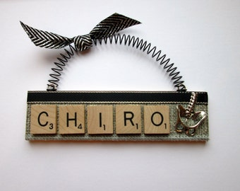 Chiropractor Scrabble Tile Ornament