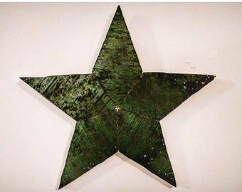 Reclaimed Green Plywood Stars
