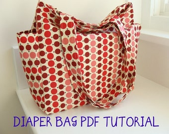 PDF Tutorial --- Watermelon Wishes Deluxe Diaper Bag --- How to sew 7 page guide