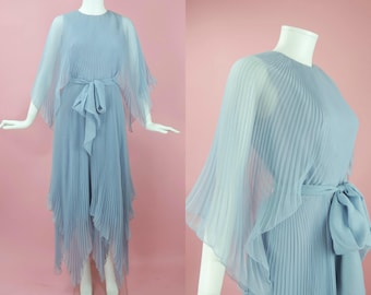 1960s Miss Elliette Lavender Blue Gown