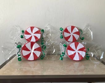 Big Peppermint Candy (set of 4).
