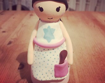 Star Baker Large Peg Doll