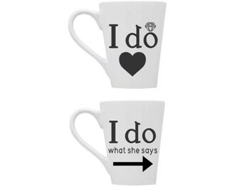Marriage Mugs   Wedding Mugs   Mr. and Mrs. Gift Set   Wedding Gift   Coffee Mugs   Wedding Set   Funny Marriage Mugs   His And Hers Gift