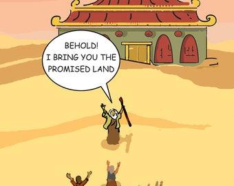 Promised Land Chanukah Greeting Card - 1106