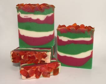 Holiday Candy Soap, Cold Process Soap, Homemade Soap, Handmade Soap, Vegan Soap