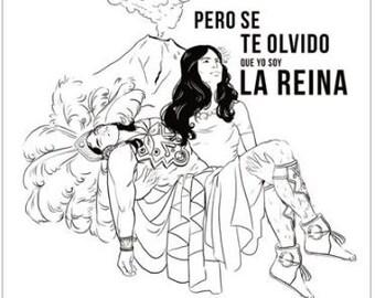 La Reina-Popocatépetl et l'Iztaccíhuatl affiche