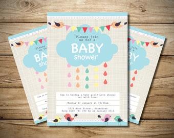 Baby shower Cloud Invitation
