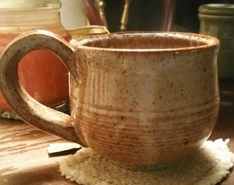 Large Stoneware Mug for coffee or soup.