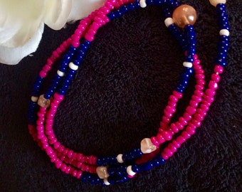 Waist beads-Pink Fairy