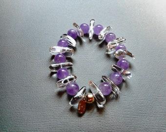 Bracelet Amethyst Crystal rock
