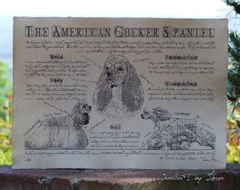 Antique styled dog standard - American Cocker Spaniel