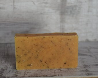 Handmade Rustic Soap Lemongrass & Rosemary 120g friendly soap vegan cruelty free