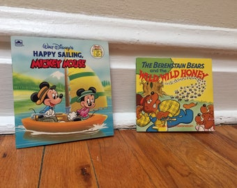 Set of 2 Small Books Children's Book Vintage Mickey and Minnie Berenstain Bears