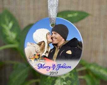 Personalized Christmas Ornament, Photo Christmas ornament, Custom photo Ornament, Newly christmas gift, photo ornament, Christmas gift.