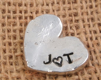 Valentine's Day Heart - Heart Pocket Token - Valentine's Day for Man -  for husband, wife, sweetheart  - Valentine heart