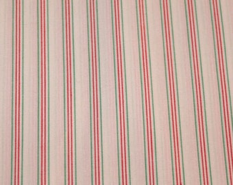 Christmas / Classic Christmas Stripe / Christmas Fabric / Stripe Fabric / Red & Green Fabric /  Noel from Nashville Cotton