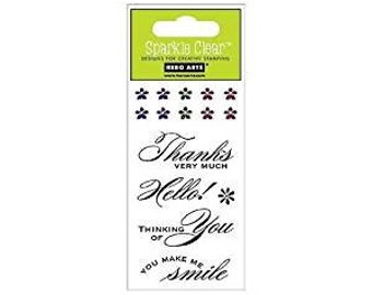 """Hero Arts """"Simple Message"""" Clear Stamps"""
