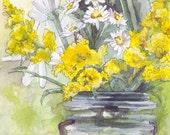 Flower Painting - Print f...