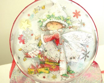 ball clear 14.5 cm fairy, tree, living room accessories wall hanging, fairies, Elves