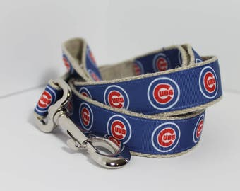 Chicago Cubs hemp dog collar or leash