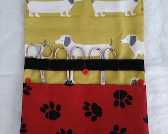 Scissor keeper. dog grooming scissors, rotary blade keeper, workshop tool holder