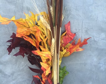 """Thanksgiving Dried Flowers, Fall Flowers , Dried Flowers, Wedding flowers, Home decor 27"""" tall"""