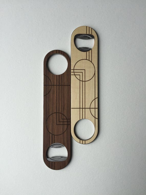 PRAIRIE Wood Bottle Opener | Walnut or Maple