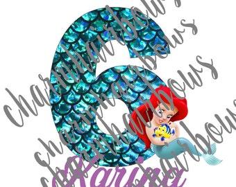 Mermaid iron on (DIGITAL FILE)