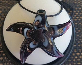 Starfish Lampwork Pendant Necklace