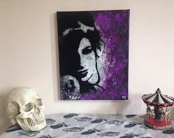 Original Amy winehouse acrylic painting/ music art/ wall art/ wall decor/ 90s rock art