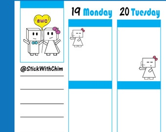 Bow Robot Girl No No   Cute Planner Stickers   Perfect for planners and calendars   R2023