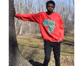 Map of Africa sweatshirt.