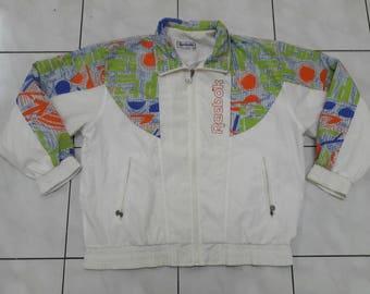Vintage Reebok windbreaker jacket Classic sports multicolour