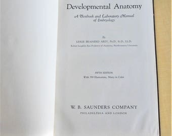 Developmental Anatomy, Arey, Textbook, 1946