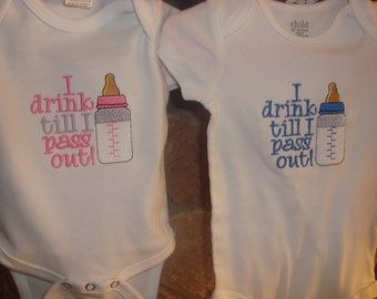 Drink till I pass out  creeper , shirt OR BIB