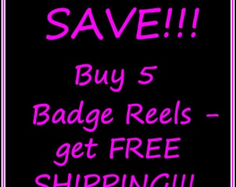Retractable id Badge Holders SPECIAL - buy 5 get FREE shipping USA only