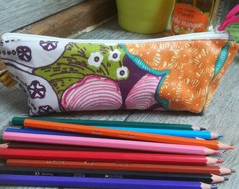 Pencils and pens case / school bag / school / flowers